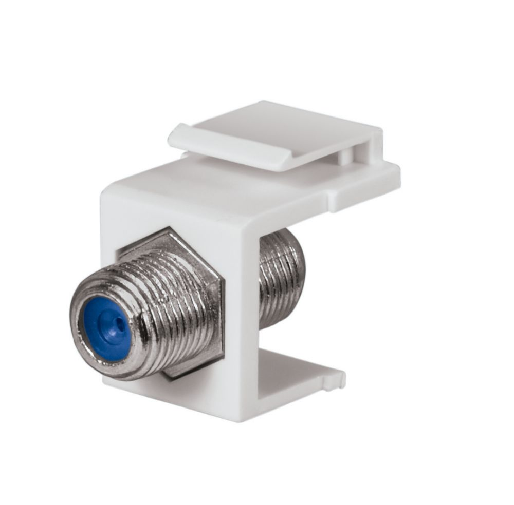 F-CONNECTOR, WHITE