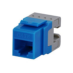 Commercial Electric CAT6 Jack in Blue