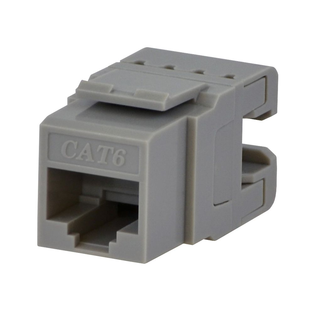 Commercial Electric CAT6 Jack in Grey
