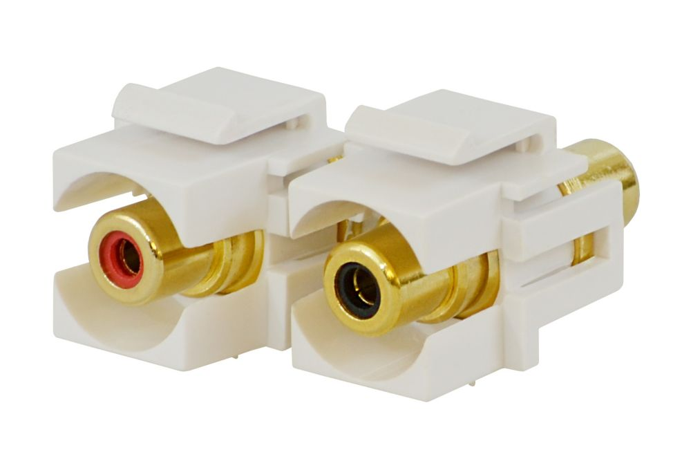 Commercial Electric RCA Connector (Female) in White
