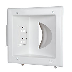 Recessed Media Plate Duplex Receptacle