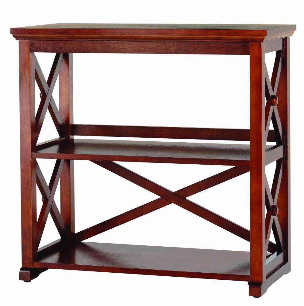 Home Decorators Collection Brexley 2 Shelf Bookcase Chestnut The Home Depot Canada