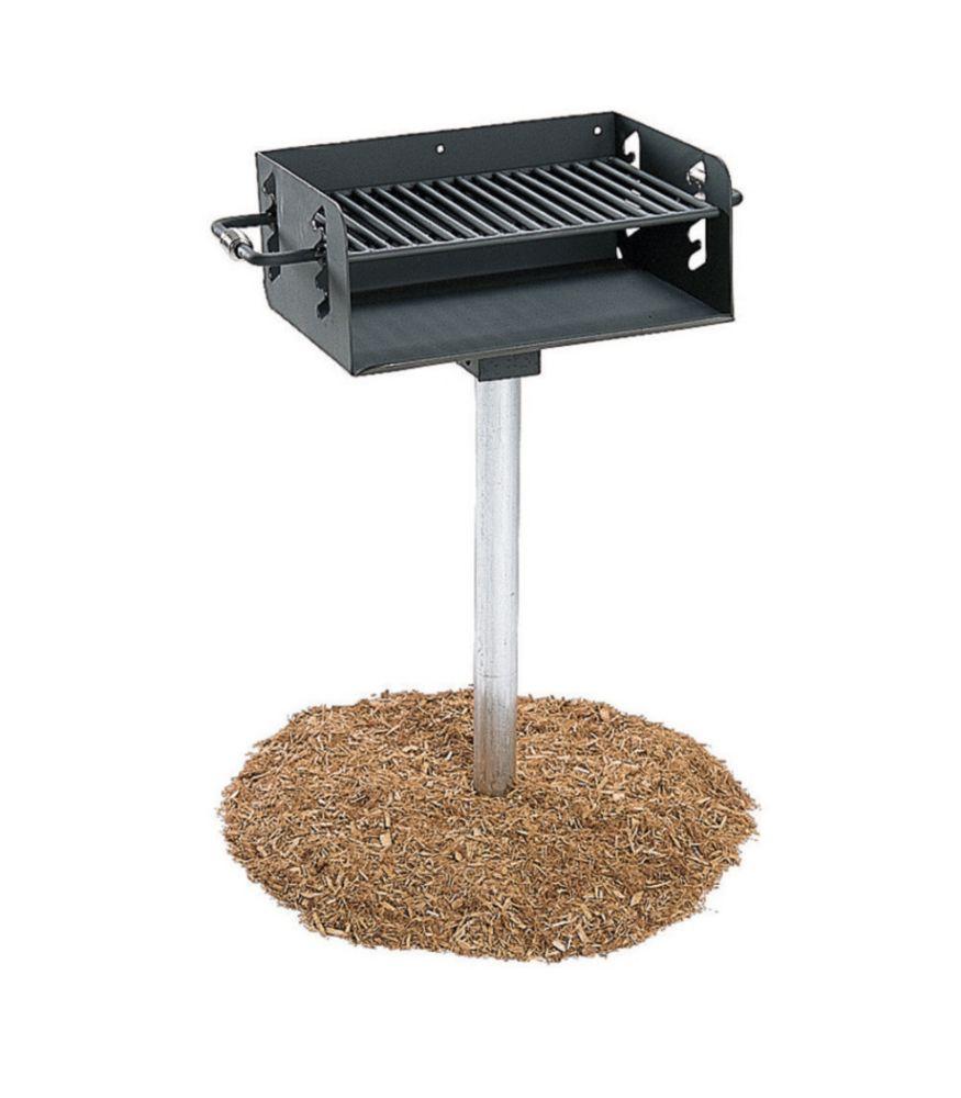Barbecue au charbon de bois répondant aux normes de lADA