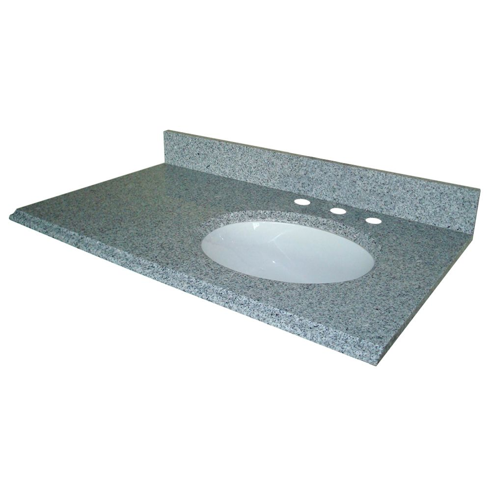 37-Inch W x 22-Inch D Granite Vanity Top in Napoli with Right Bowl