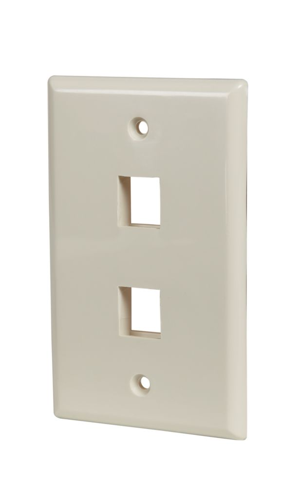 Commercial Electric 4-PORT WALLPLATE, LT. ALMOND