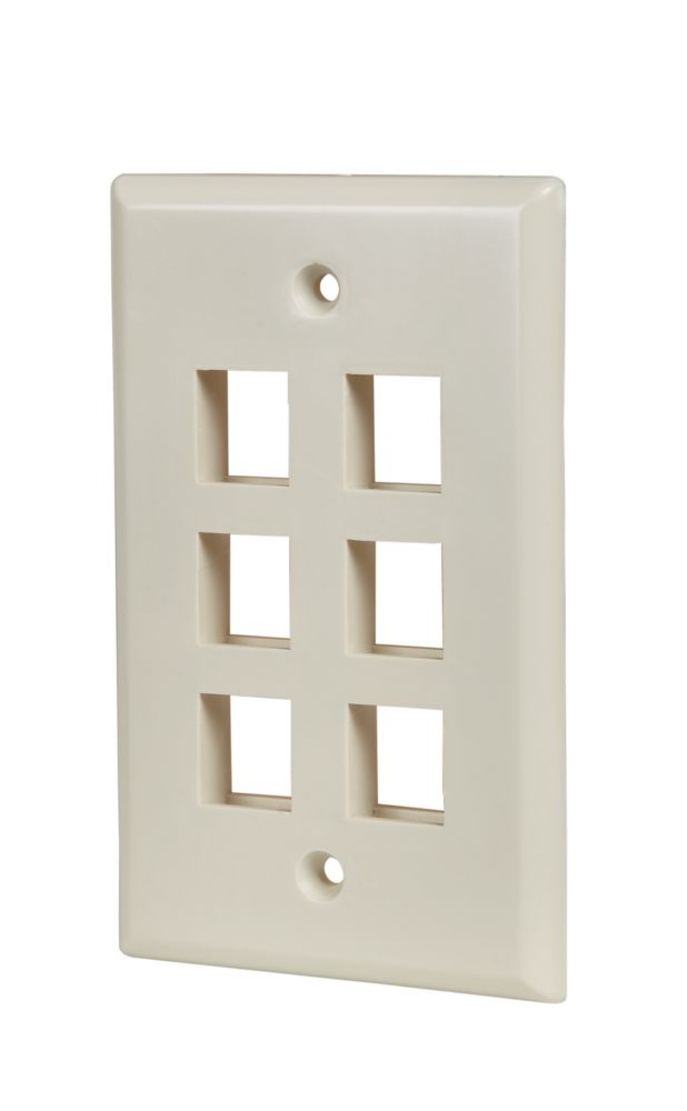 6-PORT WALLPLATE, LT. ALMOND 5003-LA-C in Canada