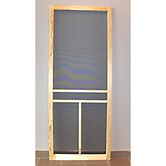 32-inch T-Bar Wood Screen Door