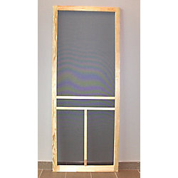 DIY 36-inch T-Bar Wood Screen Door