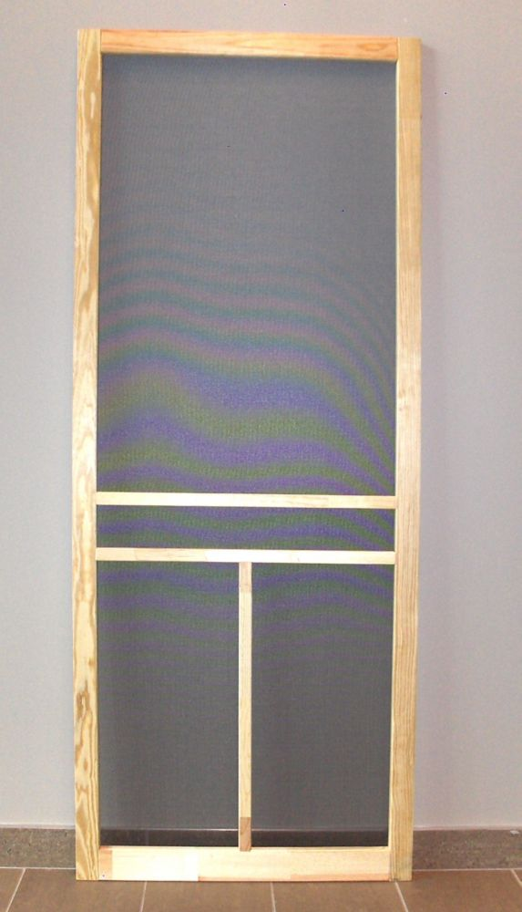 Emco 36 Inch 400 Series White Retractable Screen Door With