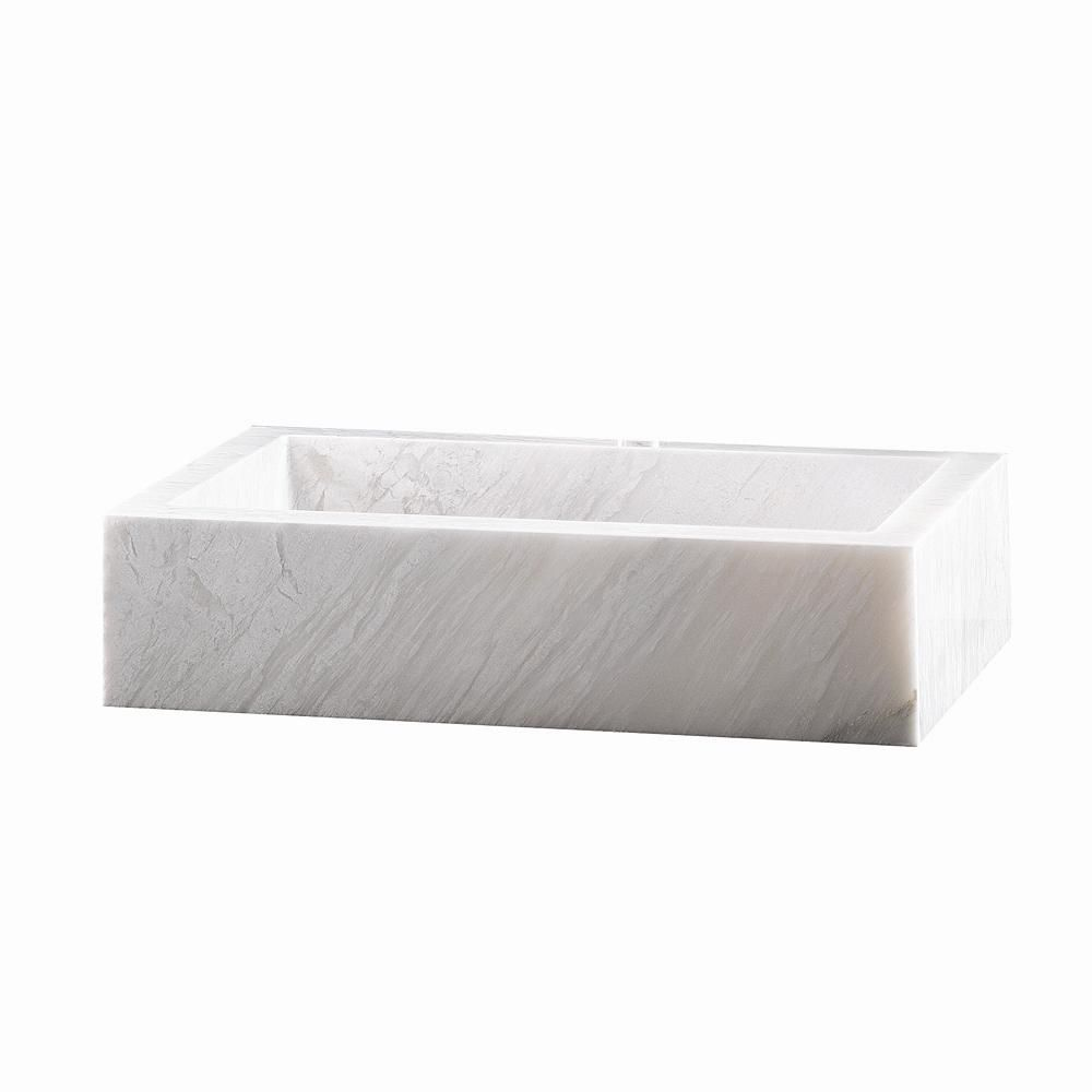 Rectangle Block Marble Vessel Bowl