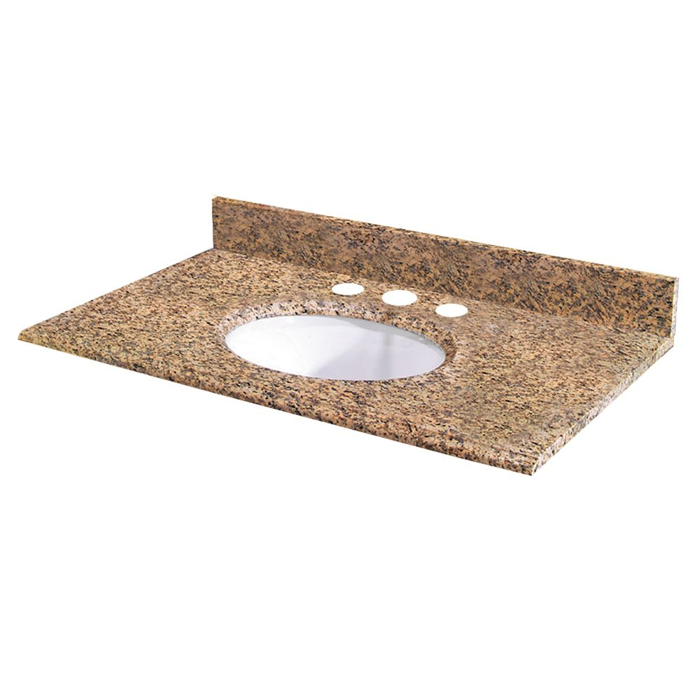Revêtement de comptoir pour meuble lavabo de 63,5 cm X 55,9 cm (25 po X 22 po) en granit Montesol