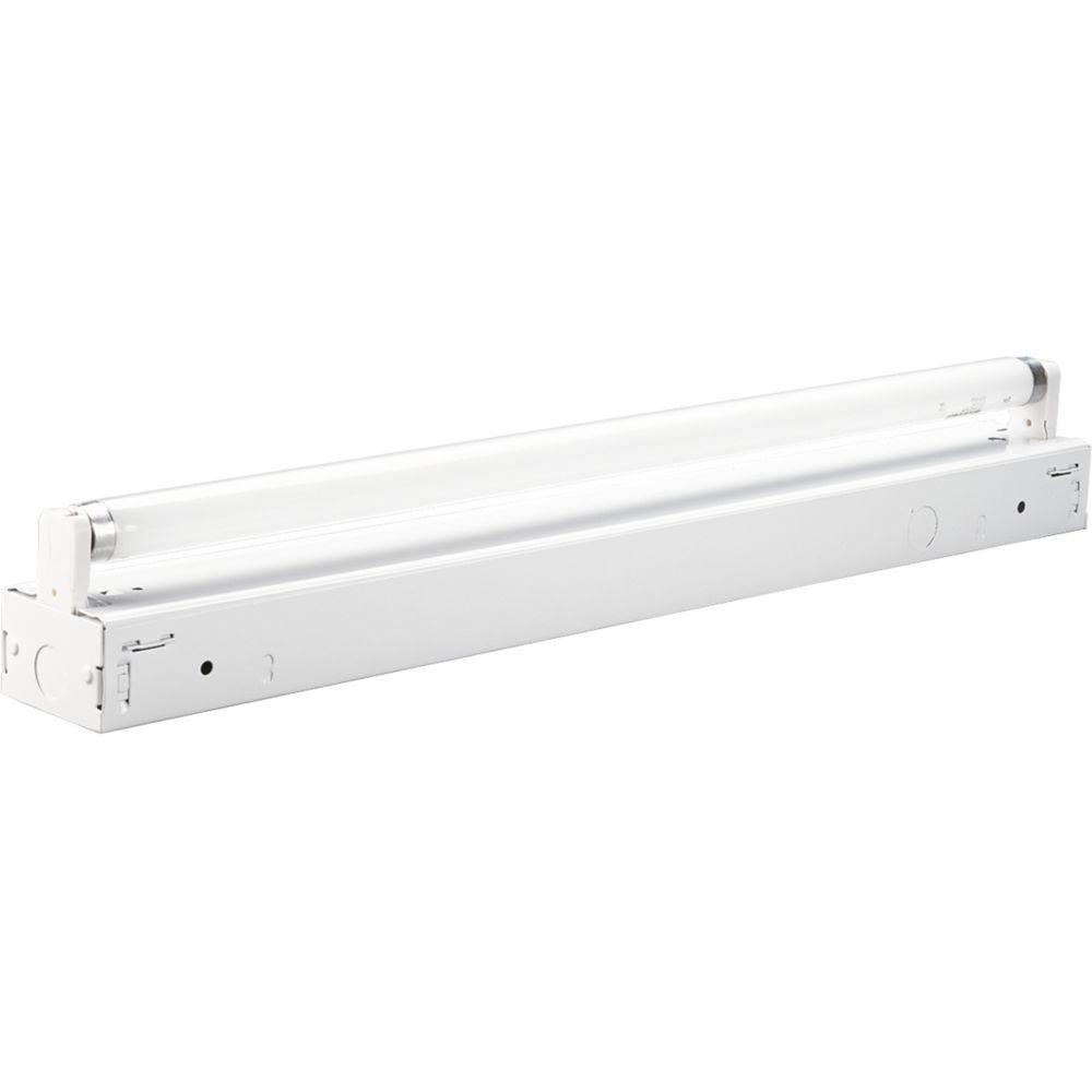 Blanc, une lumière, 61cm (24po) Bande fluorescente