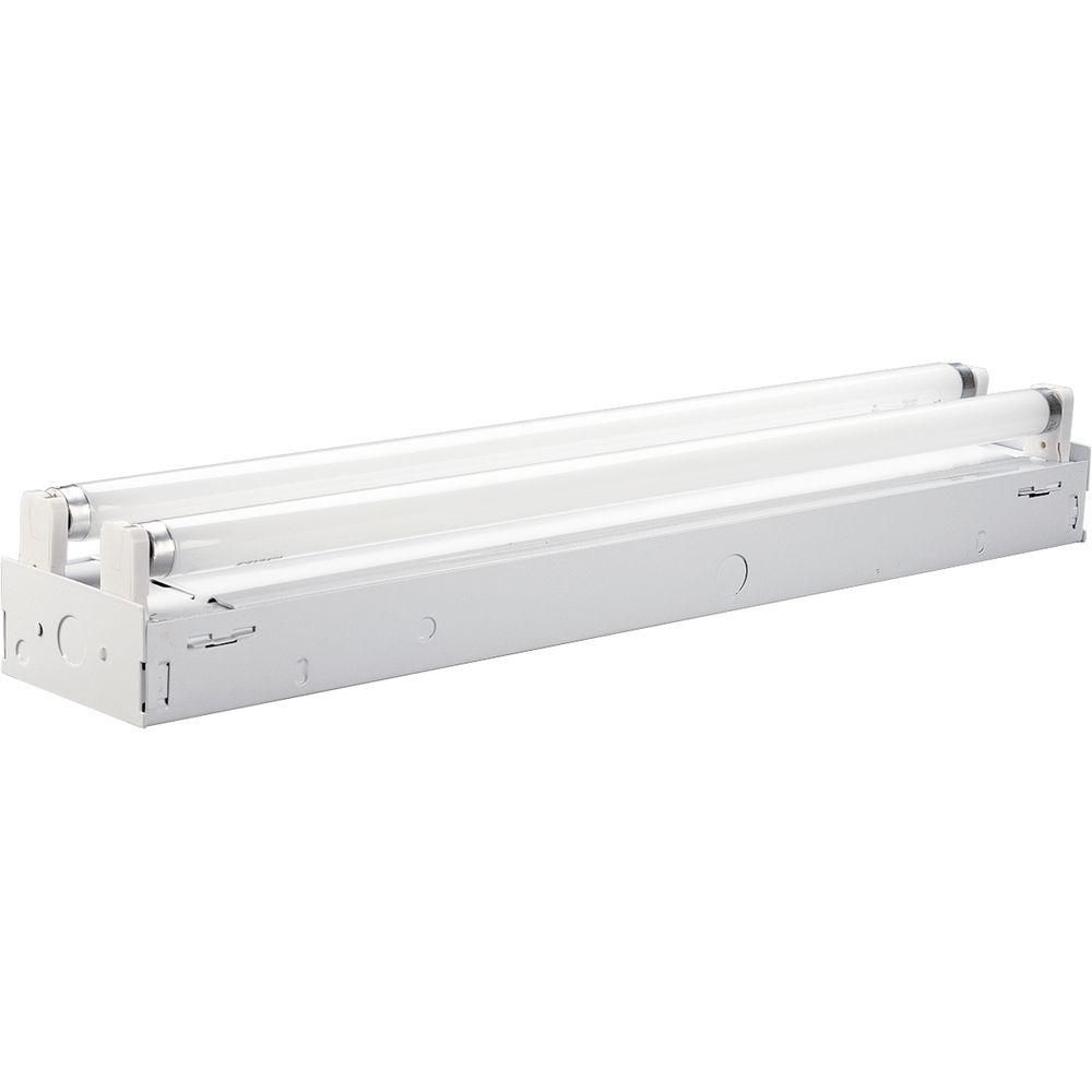 White 2-light, 24 In. Fluorescent Strip