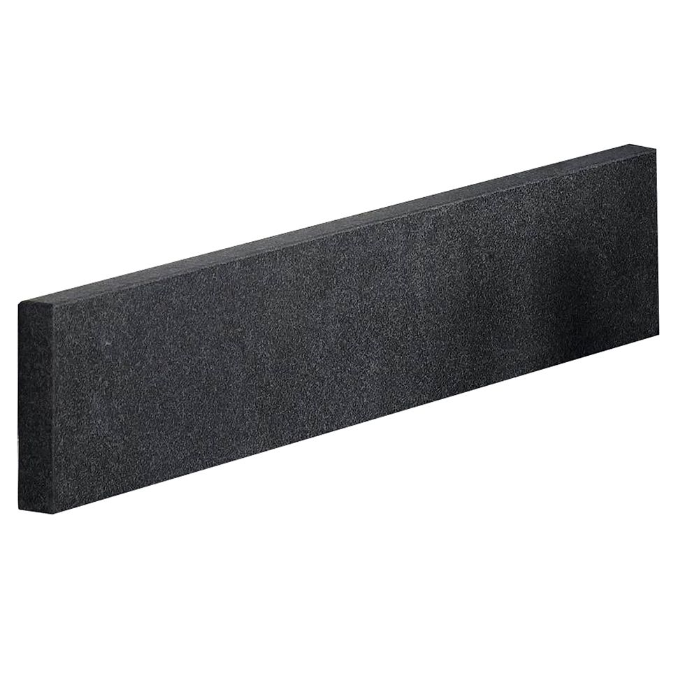 Antiqued Black Granite Side Splash - 21 Inch