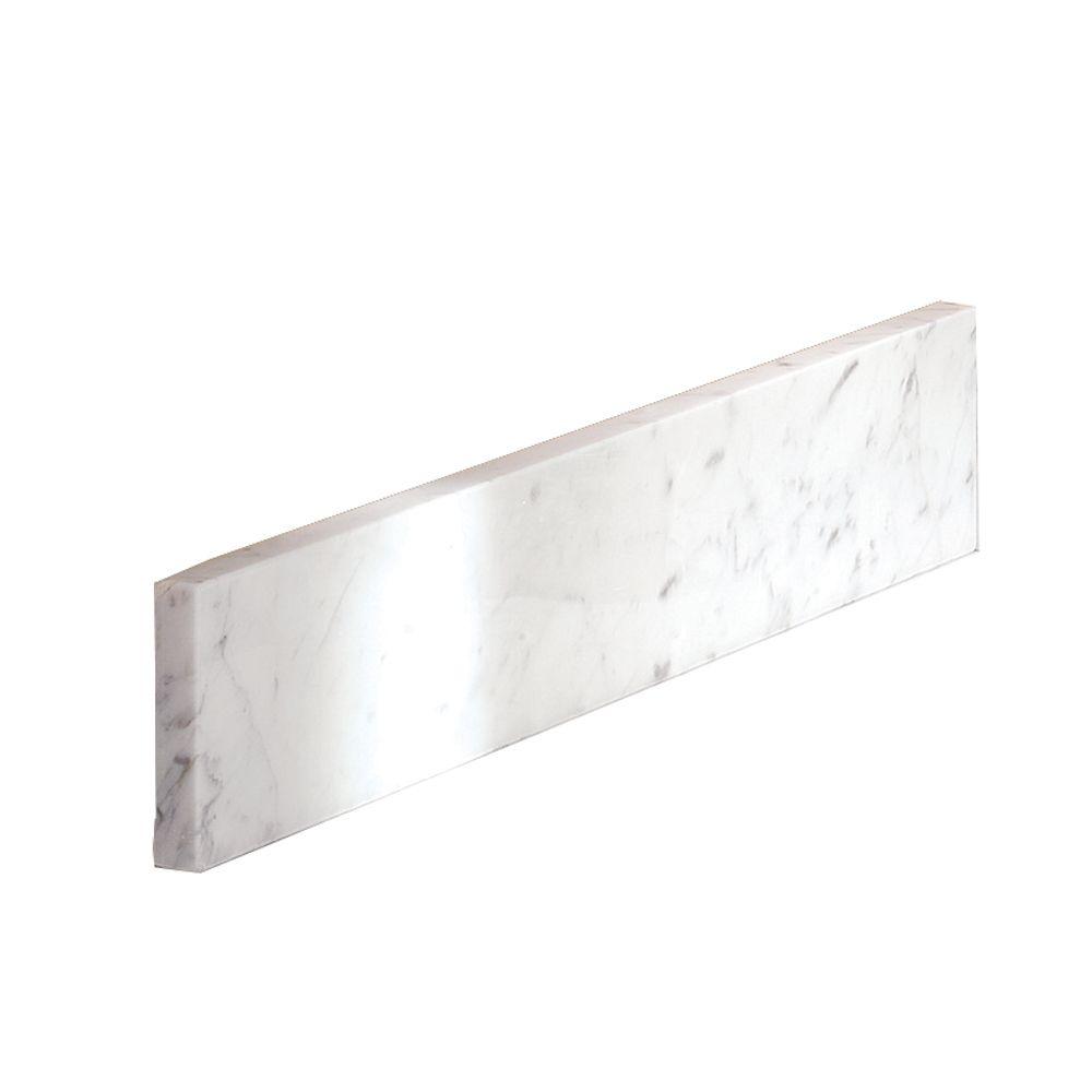 Dosseret latéral de 50,8 CM (20 PO) en marbre de Carrare