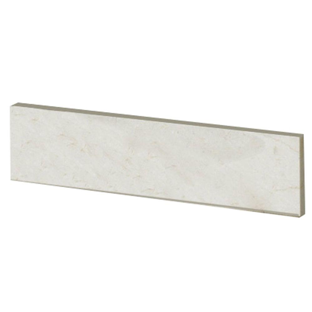 Dosseret latéral de 50,8 CM (20 PO) en marbre Crema Marfil