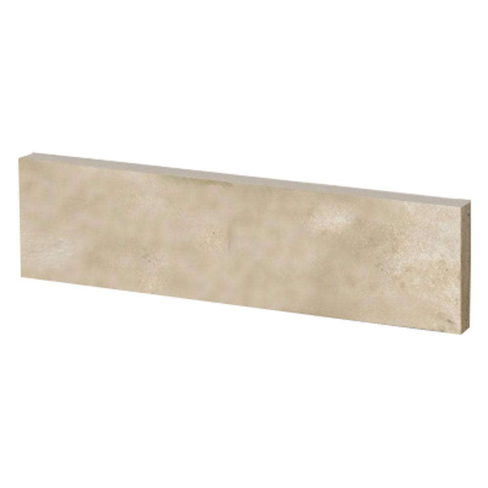 Dosseret latéral de 50,8 CM (20 PO) en travertin ivoire de qualité supérieure