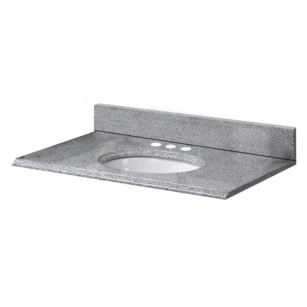 Revêtement de comptoir pour meuble lavabo de 63,5 cm X 48,3 cm (25 po X 19 po) en granit Napoli