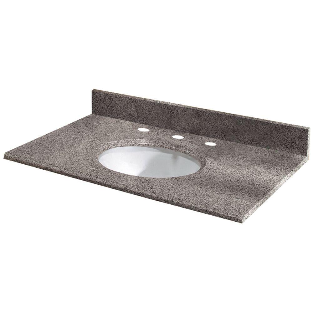 Revêtement de comptoir pour meuble lavabo de 63,5 cm X 55,9 cm (25 po X 22 po) en granit Napoli