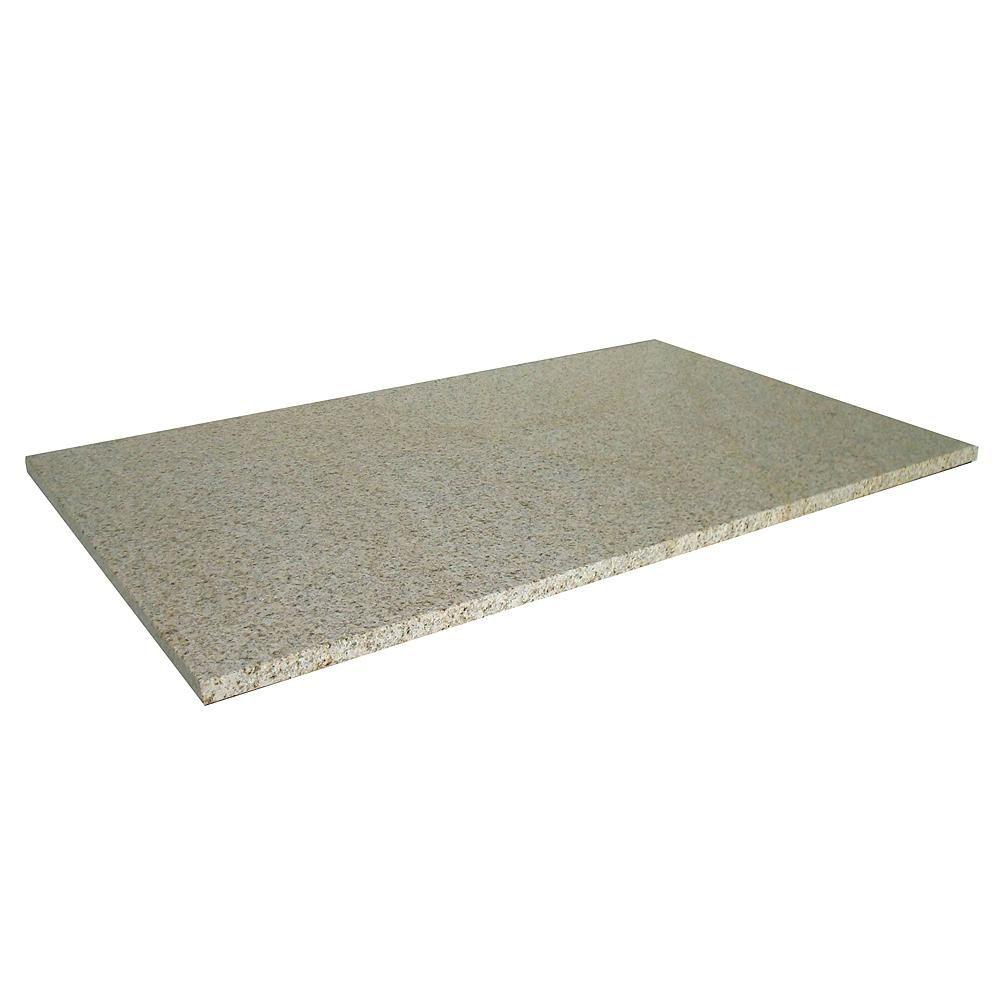 Revêtement de comptoir pour buanderies de 63,5 cm X 55,9 cm (25 po X 22 po) en granit beige