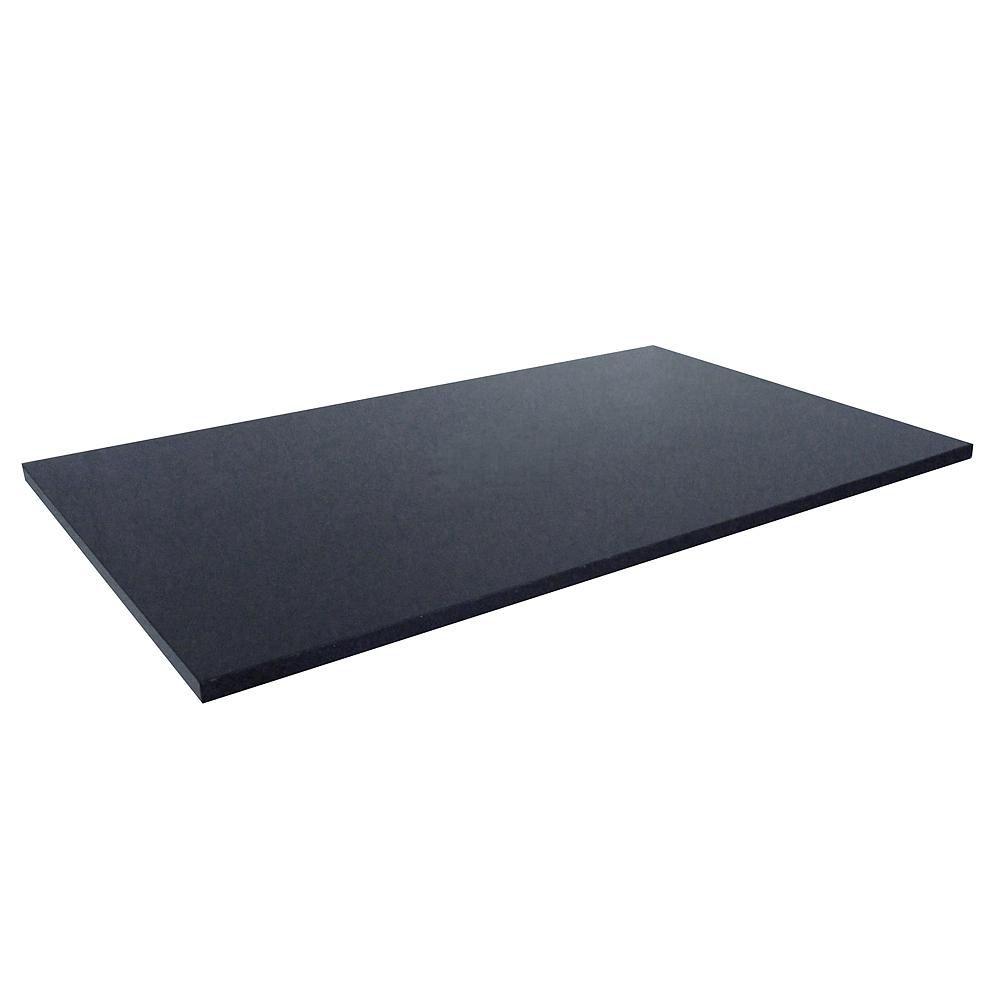 Revêtement de comptoir pour buanderies de 63,5 cm X 55,9 cm (25 po X 22 po) en granit noir