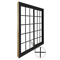 71.75 inch x 79.75 inch Clear LowE Argon Painted Black Double Sliding Vinyl Patio Door
