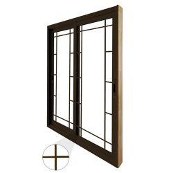 STANLEY Doors Double porte panoramique coulissante - style prairie -  (60 po x 80 po)  intérieur blanc, extérieur brun commercial - ENERGY STAR®