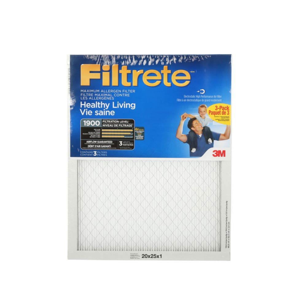UA03-3 20 x 25 3-Pack Filtrete Ultimate