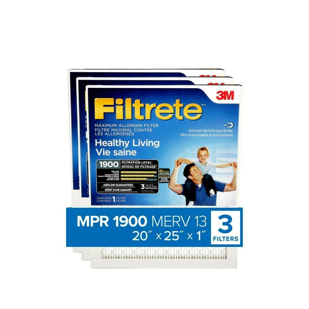 Filtrete UA03-3 20 x 25 3-Pack Filtrete Ultimate