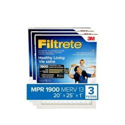 Filtrete UA03-3 20 x 25 Paquet de 3 Filtrete filtre Ultime contre les allergènes