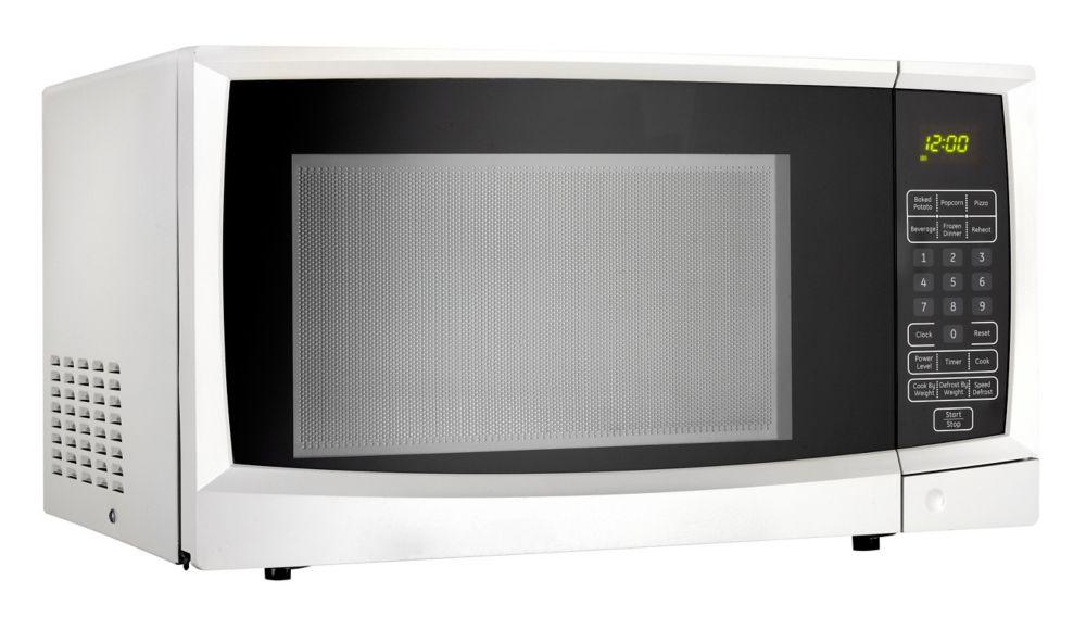 Designer 1.1 cu. ft. Countertop Microwave in White