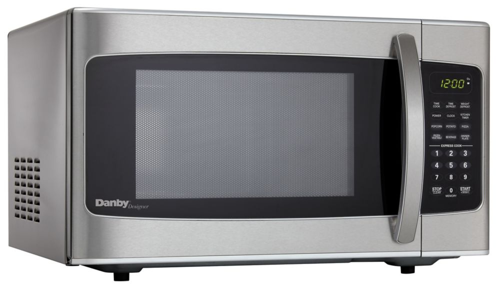 Designer 1.1 cu. ft. Countertop Microwave in Stainless Steel