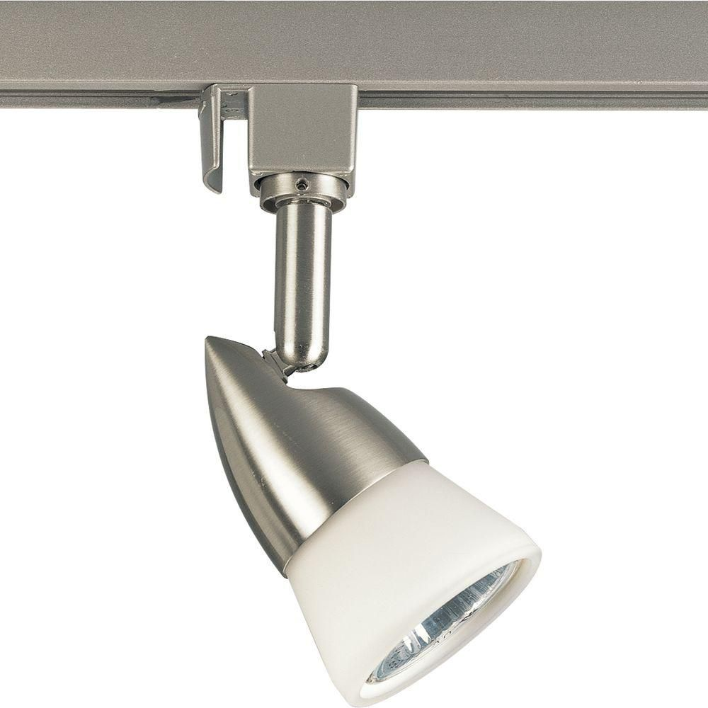 Alpha Trak Collection Brushed Nickel 1-light Track Head