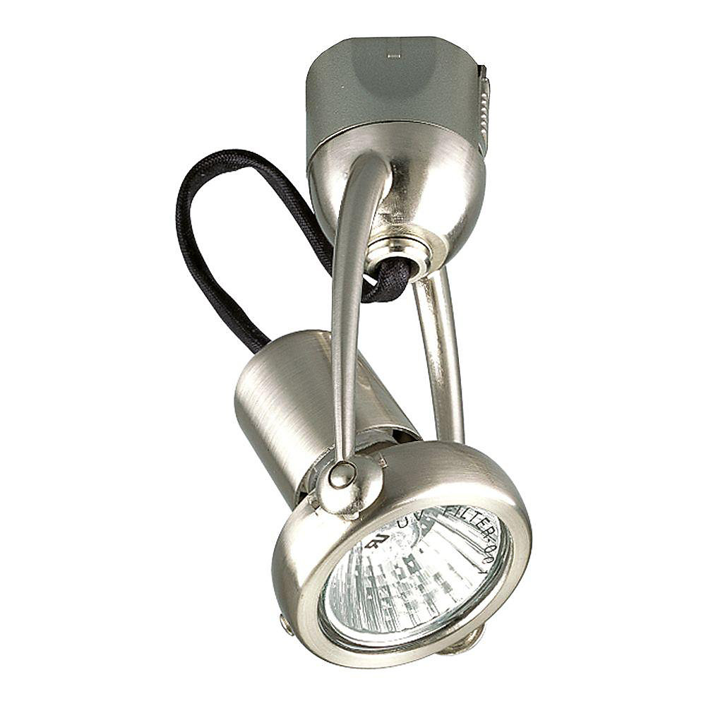 Alpha Track 50W 1-Light Brushed Nickel Finish Hi-Tech Style Track Lighting Head