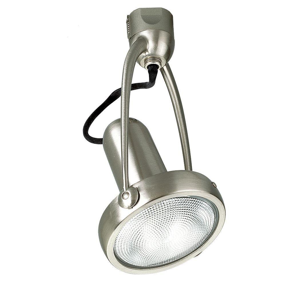 Douille dampoule orientable à 1 Lumière, Collection Alpha Trak - fini Nickel Brossé
