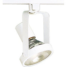 Alpha Trak 250W 1-Light White Gimbal Ring Style Track Head