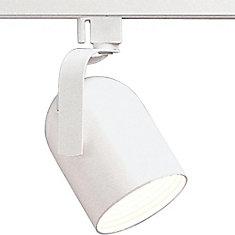 Alpha Track 50W 1-Light White Roundback Style Track Lighting Head