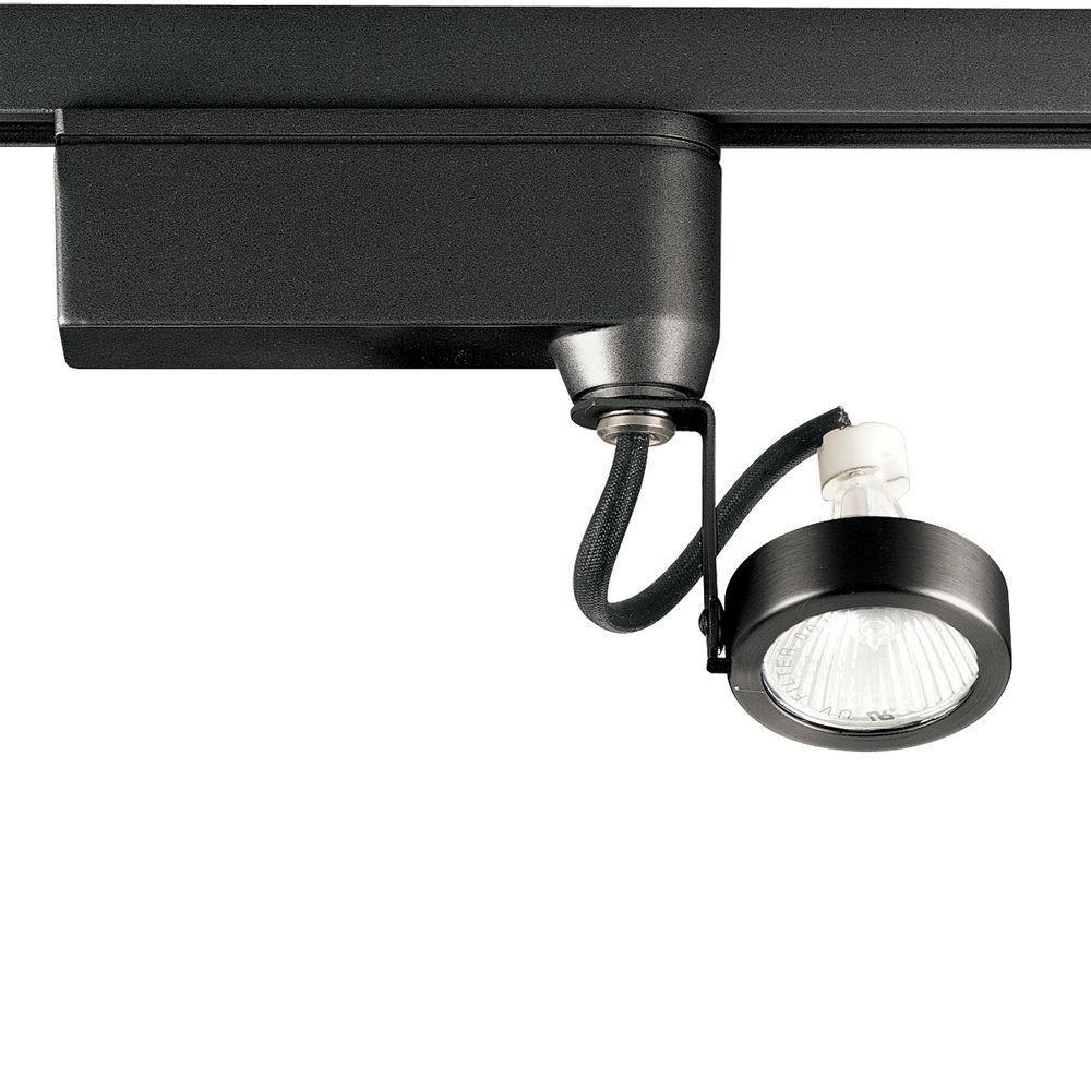 Alpha Trak Collection Black 1-light Track Head