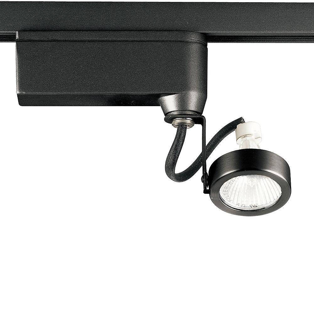 Alpha Track 50W 1-Light Black Finish Hi-Tech Style Track Lighting Head