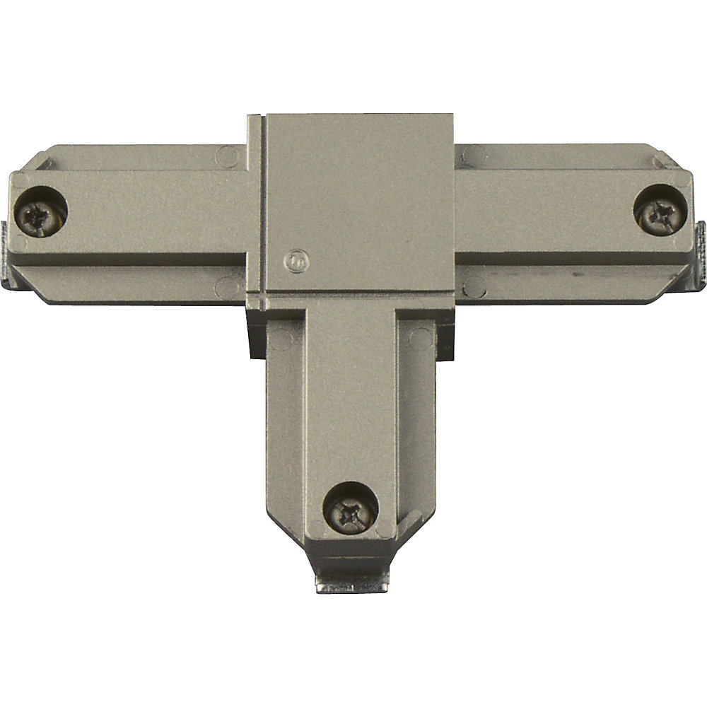 Brushed Nickel Track Accessory, T Connector - Inside Left Polarity