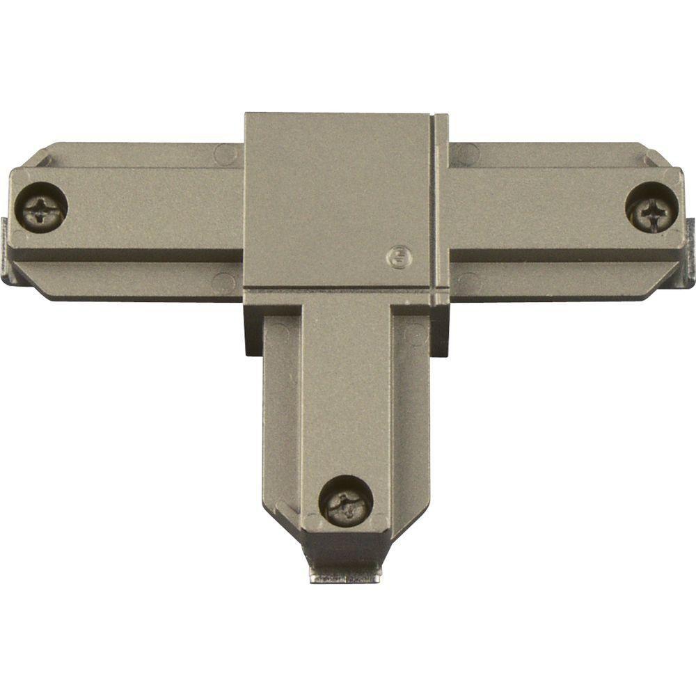 Accessoire de rail, connecteur enT�polarité intérieure droite - fini Nickel Brossé