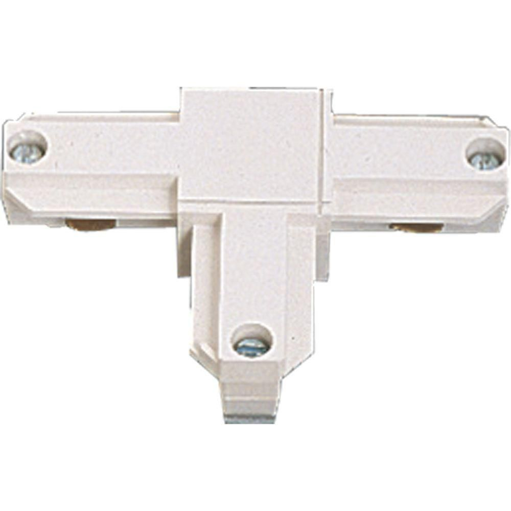 White Track Accessory, T Connector - Inside Right Polarity