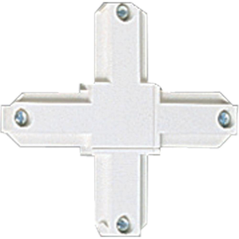 Accessoire de rail, connecteur croisé - fini Blanc