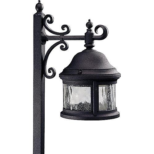 Éclairage du chemin decoratif à 1 Lumière, Collection Ashmore - fini Noir