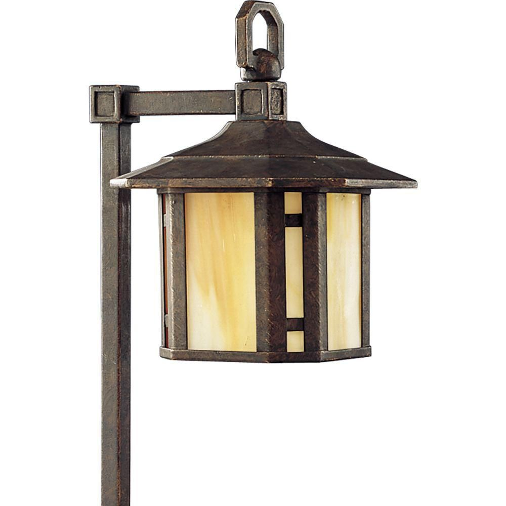 Arts and Crafts Collection Weathered Bronze 1-light Landscape Pathlight