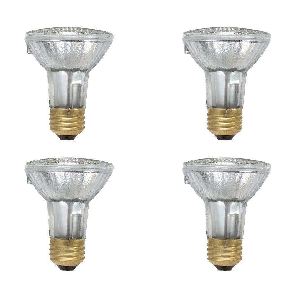 Halogen 50W PAR20 Flood 4 Pack