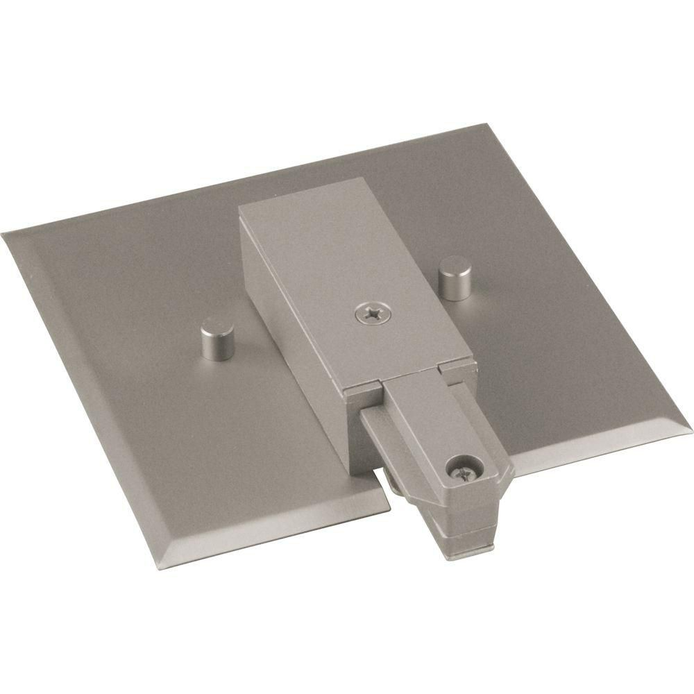 Brushed Nickel Track Accessory, End Feed