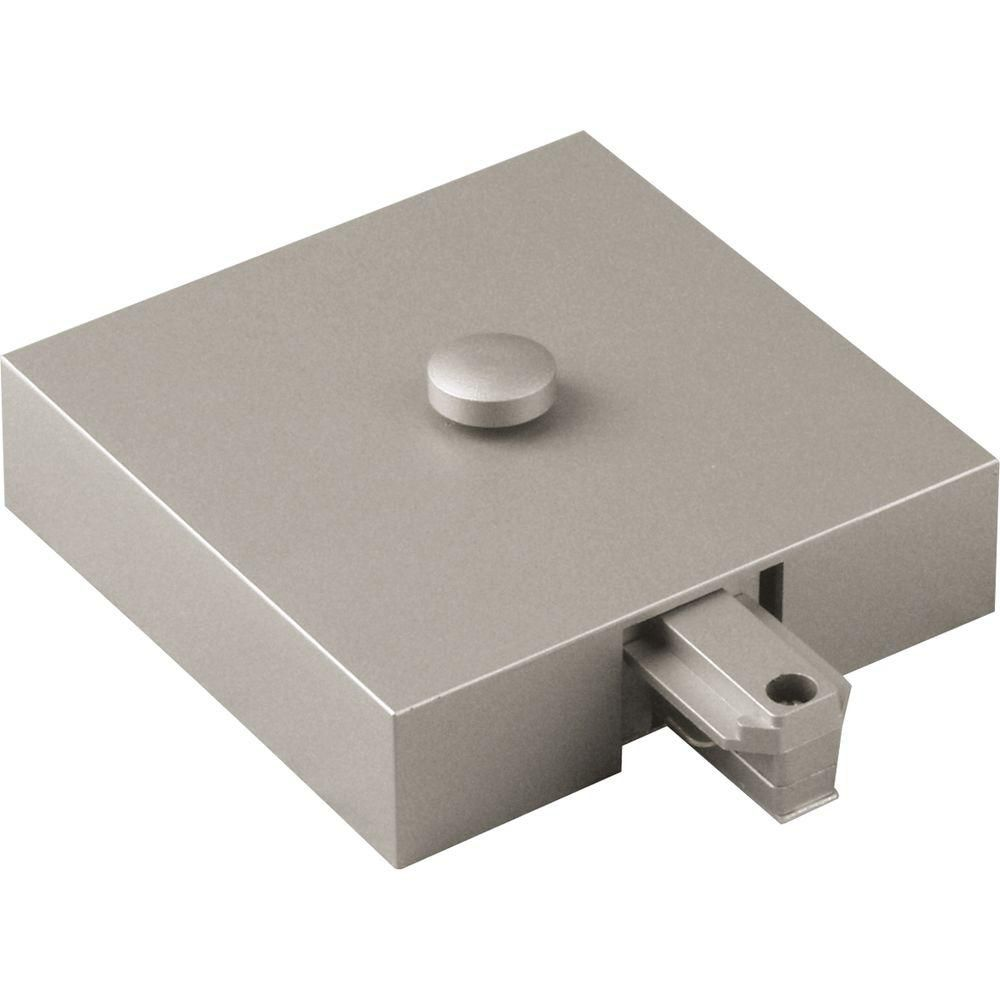 Brushed Nickel Track Accessory, T-Bar End Feed