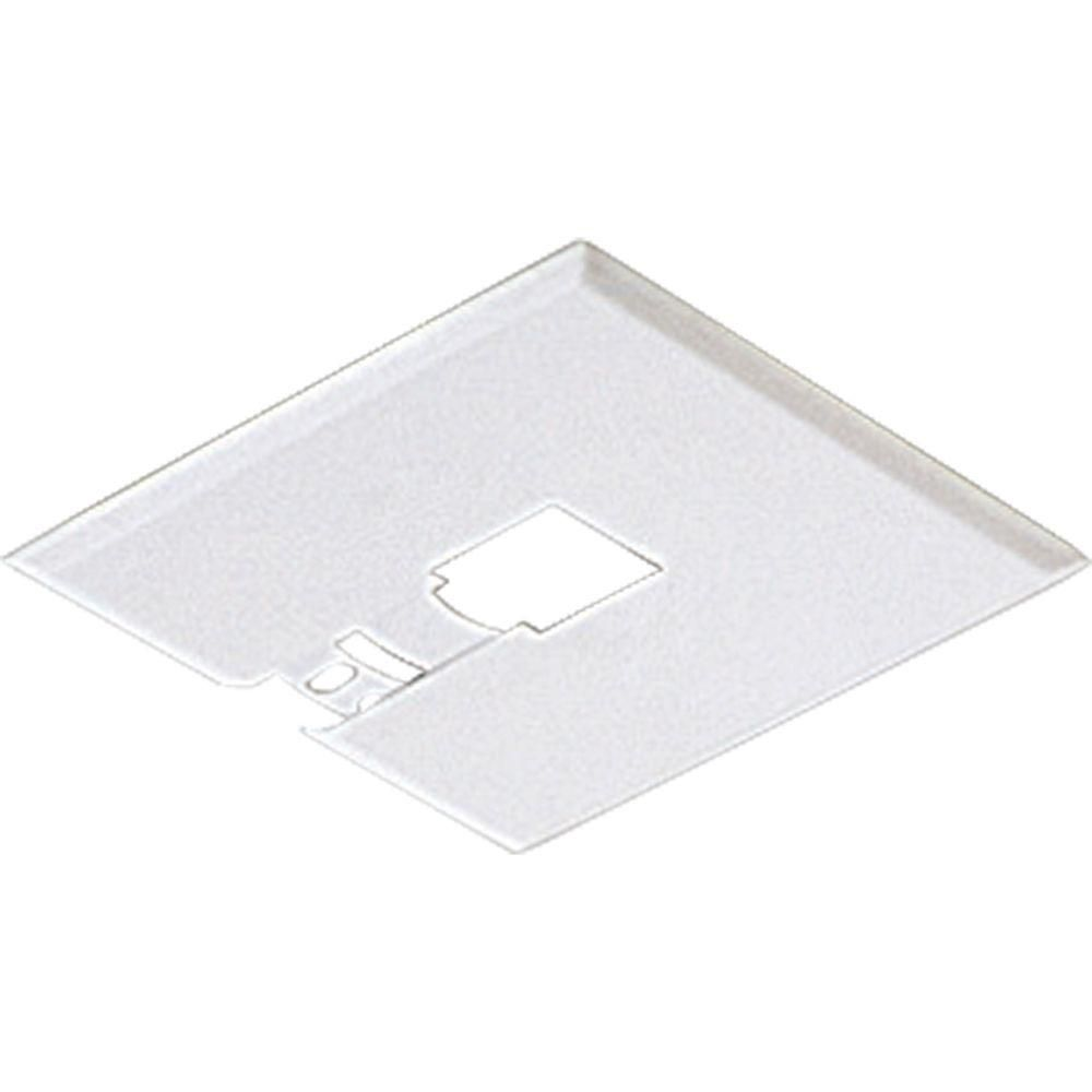 White Track Accessory, Flushmount Canopy Kit