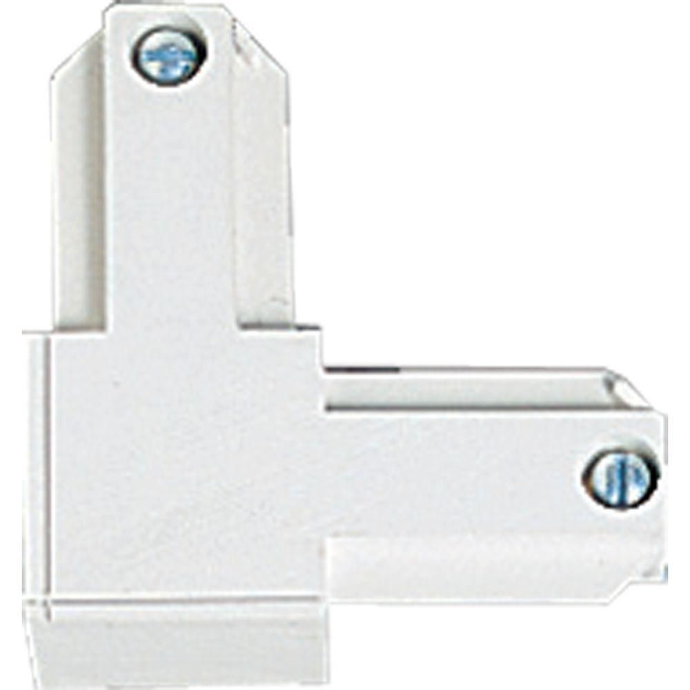 White Track Accessory, L Connector - Inside Polarity